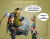 Cartoon: Psycho Vikings 1 (small) by Rüsselhase tagged wikinger,schmerzen,axt,schild,psychosomatisch,helm