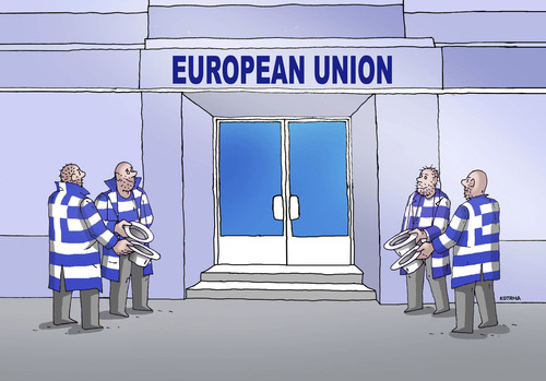 Cartoon: eugreece (medium) by kotrha tagged greece,ue,money,crisis