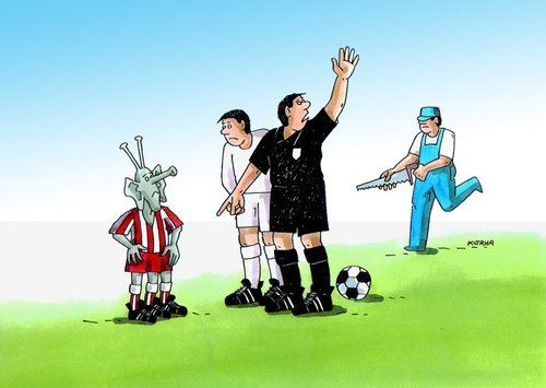 Cartoon: fotbal (medium) by kotrha tagged humor