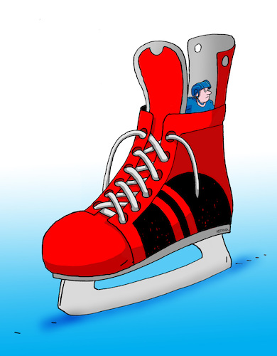Cartoon: hokskrysa (medium) by kotrha tagged ice,hockey,winter,championships,canada