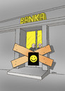 Cartoon: banksmile (small) by kotrha tagged money,bank,eu,euro,dollar,crisis,cyprus