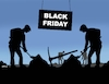 Cartoon: blackrobot (small) by kotrha tagged black,friday