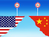 Cartoon: cloclo (small) by kotrha tagged customs,war,duty,clo,zoll,douane,usa,china