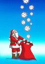 Cartoon: covidvrece (small) by Lubomir Kotrha tagged christmas,santa,claus,winter,covid