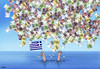 Cartoon: greepomoceu (small) by kotrha tagged greece,eu,referendum,syriza,tsipras,ecb,reforms,money,debt,euro