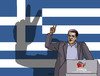 Cartoon: greevictory (small) by kotrha tagged greece,tsipras,syriza,election,eu,euro