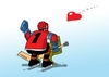 Cartoon: hoksrdce (small) by kotrha tagged hokej,hockey,world,cup