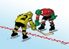 Cartoon: hranice (small) by kotrha tagged hokej,hockey,world,cup