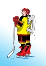 Cartoon: korculaa (small) by kotrha tagged ice,hockey