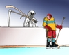 Cartoon: kosahok (small) by kotrha tagged hokej,hockey,world,cup