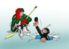 Cartoon: potapac (small) by kotrha tagged ice,hockey