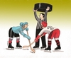 Cartoon: rozhodca (small) by kotrha tagged ice,hockey