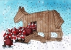 Cartoon: santatroy (small) by kotrha tagged humor