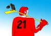 Cartoon: straka (small) by kotrha tagged ice,hockey