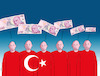Cartoon: turkomoney (small) by kotrha tagged turkey,turkish,lira,decline,the,fall,dollar,euro,erdogan