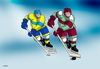 Cartoon: zubyhok (small) by kotrha tagged hokej,hockey,world,cup