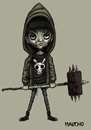 Cartoon: BAD BOY (small) by maucho tagged boy,evil,bones