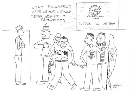 Cartoon: Franz. Romapolitik in der Praxis (medium) by Ullinger tagged roma,frankreich,sarkozy,eu