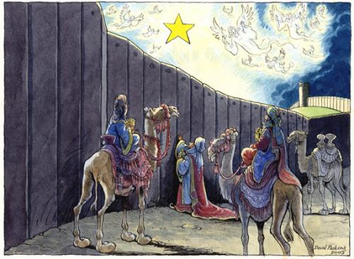 Cartoon: Christmas (medium) by DavidP tagged christmas,wise,men,israel,wall