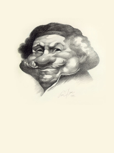 Cartoon: Rembrandt (medium) by Jano tagged caricature,draw,rembrandt,traditional,pencil
