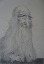 Cartoon: Leonardo Da Vinci (small) by SAPIENS tagged cartoon drawing