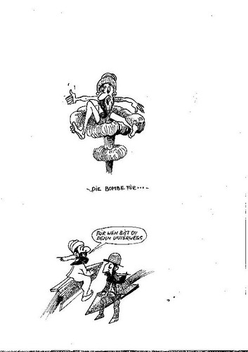 Cartoon: Bombenstimmung (medium) by Steffi und Siggi tagged islam,krieg
