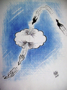Cartoon: for peace .. (small) by kotbas tagged pigeon,cloud,white