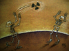 Cartoon: nuclear match (small) by kotbas tagged death,nuclear,skeleton