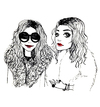 Cartoon: Olsen Twins (small) by naths tagged girls,sisters,olsen,mary,kate,ashley,twins,fashion