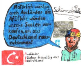 Cartoon: AfD - Phantasieausländer (medium) by Schimmelpelz-pilz tagged rassismus,afd,nazi,wutbürger