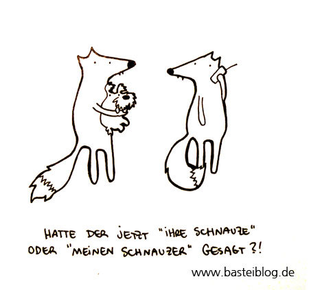 Cartoon: Schnauzer halten. (medium) by puvo tagged fuchs,schnauzer,fox,telefon,handy,mobile