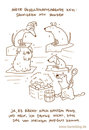 Cartoon: Nasser Hund. (small) by puvo tagged hund,sauna,katze,nass,geruch,gestank,dog,cat,steam,dampf,smell,wet