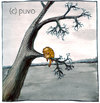 Cartoon: Winterschlaf. (small) by puvo tagged winter,vogel,bird,schlafen,sleep,hibernation,cold,kalt,baum,tree,hibernate