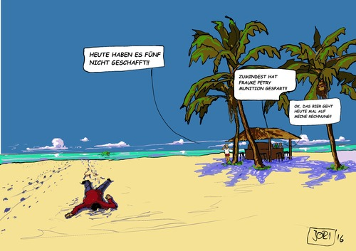 Cartoon: Heute haben es... (medium) by JORI tagged tod,leid,elend,flucht,migration,menschlichkeit,afd,petry,frauke,europa,cartoon,joricartoon,niggemeyer