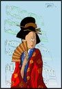 Cartoon: Madame Butterfly (small) by niggemeyer tagged niggemeyer,joricartoon,jori,madame,butterfly