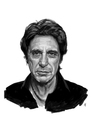 Cartoon: Al Pacino (small) by Iancu tagged al,pacino