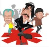 Cartoon: Red Hot Chili Peppers (small) by FARTOON NETWORK tagged red,hot,chili,peppers,cartoon,rock,star,music,caricature