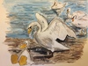 Cartoon: Kartoon Duck mit Schwänen (small) by CatPal tagged aquarell,drawing