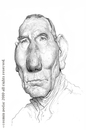 Cartoon: Pete Postlethwaite (small) by cosminpodar tagged caricature,drawing,illustration,digital,painiting