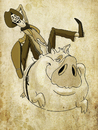 Cartoon: Flying Pig (small) by vim_kerk tagged piggy,cowboy,pig,flying