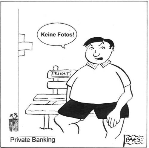 Cartoon: Private Banking (medium) by BAES tagged mann,bank,privat,sparen,comic