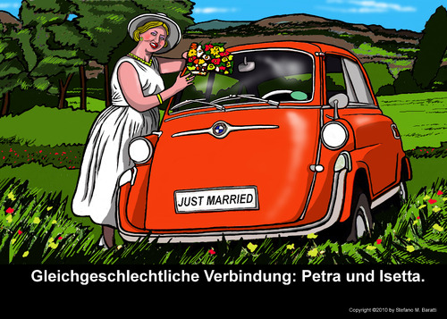 Cartoon: Zivilanerkennung (medium) by perugino tagged same,marriage,gleichgeschlecht,verbindung,sex,gleichgeschlechtliche,ehe,heiraten,heirat,liebe,frauen,homosexualität,homosexuell