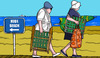 Cartoon: Falsche Richtung (small) by perugino tagged beach,holiday,nude