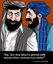 Cartoon: Globalization pros and cons (small) by perugino tagged globalization,afghanistan,kandahar
