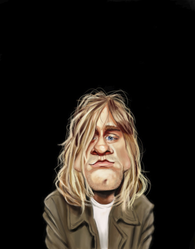 Cartoon: Kurt Cobain (medium) by doodleart tagged kurt,cobain