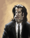 Cartoon: John Travolta (small) by doodleart tagged john,travolta,caricature