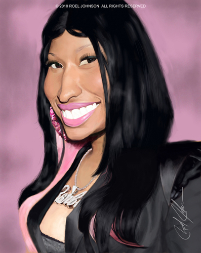 Cartoon: Nicki Menaj (medium) by thatboycandraw tagged nicki,minaj