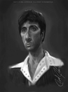 Cartoon: Tony Montana (small) by thatboycandraw tagged tony,montana,al,pacino,scarface