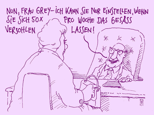 Cartoon: frau grey (medium) by Andreas Prüstel tagged fifty,shades,of,grey,film,buch,sm,einstellungsgespräch,cartoon,karikatur,andreas,pruestel,fifty,shades,of,grey,film,buch,sm,einstellungsgespräch,cartoon,karikatur,andreas,pruestel