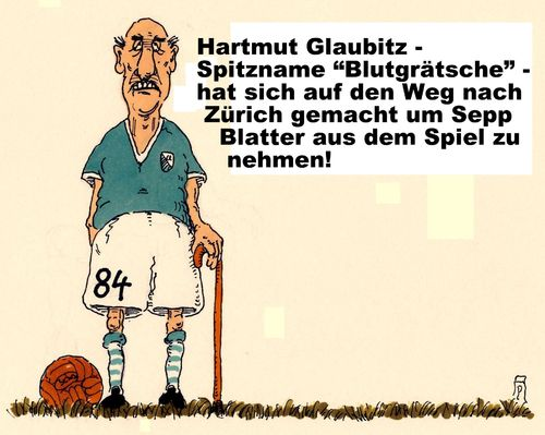 Cartoon: hartmut glaubitz (medium) by Andreas Prüstel tagged fifa,sepp,blatter,fifakongress,korruption,präsudentenwahl,blutgrätsche,cartoon,karikatur,andreas,pruestel,fifa,sepp,blatter,fifakongress,korruption,präsudentenwahl,blutgrätsche,cartoon,karikatur,andreas,pruestel